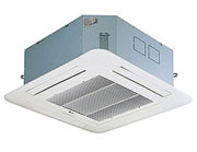 Ceiling Cassette Type Air Conditioner Room Temperature Control from the ceiling